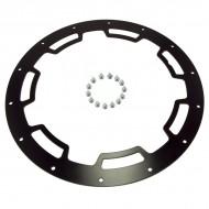 Rugged Ridge 17x9 Wheel Rim Protector Satin Black