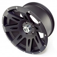 "Rugged Ridge Aluminum Wheel Black Satin 17"" x 9"" 4.625"" BS 5 on 5"