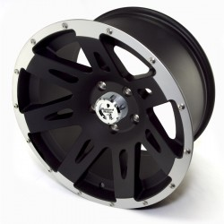 "Rugged Ridge Aluminum Wheel Satin Black w/Lip 17""x9"" 4.625"" BS 5 on 5"