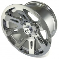 "Rugged Ridge Aluminum Wheel Chrome 17"" x 9"" 4.625"" BS 5 on 5"