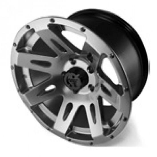"Rugged Ridge Aluminum Wheel Gun Metal Finish 17"" x 9"" 4.625"" BS 5 on 5"