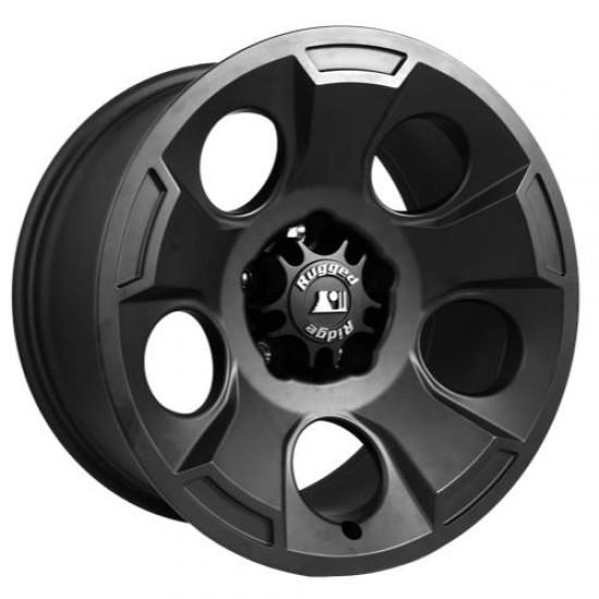 "Rugged Ridge Drakon Black Satin Alloy Wheel 17"" x 9"""
