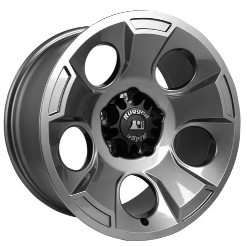 Rugged Ridge Drakon Gun Metal Alloy Wheel 17 X 9