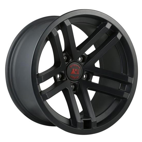 "Rugged Ridge Jesse Spade Hub Centric Wheel 17"" x 9"" Black Satin"