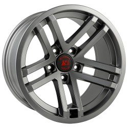 "Rugged Ridge Jesse Spade Hub Centric Wheel 17"" x 9"" Gun Metal"