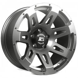 "Rugged Ridge Aluminum XHD Wheel Gunmetal 18"" x 9"" 4 9/16 BS 5 on 5"
