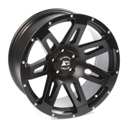 "Rugged Ridge Aluminum XHD Wheel Black Satin 20"" x 9"" 4.53"" BS 5 on 5"