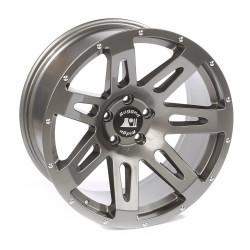 "Rugged Ridge Aluminum XHD Wheel Gun Metal 20"" x 9"" 4.53"" BS 5 on 5"