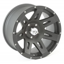 "Rugged Ridge XHD Wheel Black Satin 17"" x 9"" 4.625"" BS 5 on 5"