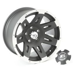"""Rugged Ridge XHD Wheel Black Satin w/ Machined Lip 17"""" x 9"""" 4.625"""" BS 5 on 5"""