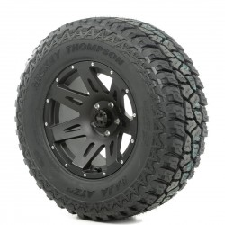 "Rugged Ridge 17"" XHD Black Satin Wheel w/ 33"" Mickey Thompson ATZ Tire"