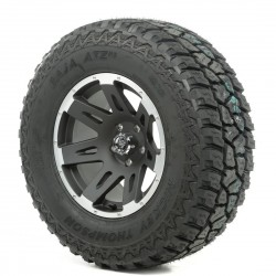 "Rugged Ridge 17"" XHD Black w/Lip Wheel w/ 33"" Mickey Thompson ATZ Tire"