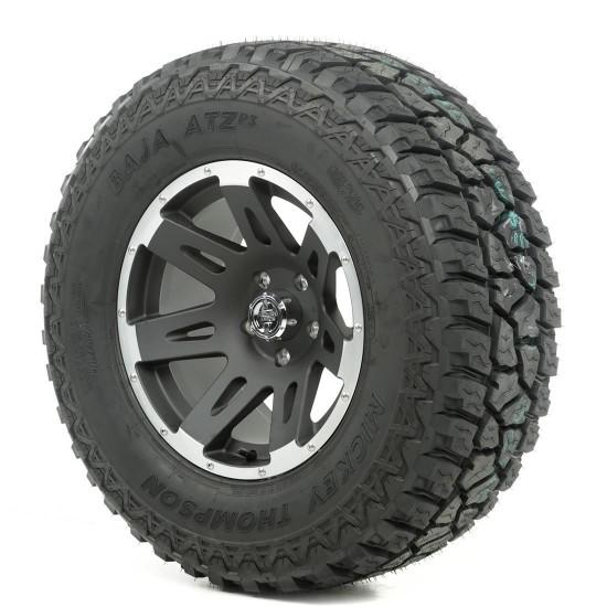 "Rugged Ridge 17"" XHD Black w/Lip Wheel w/ 33"" Mickey Thompson ATZ Tire"