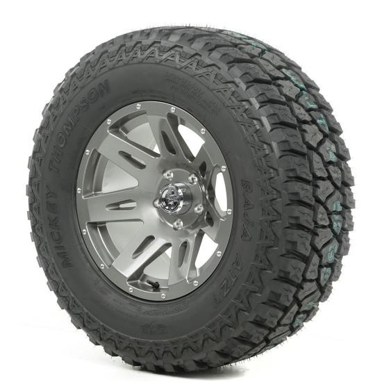 "Rugged Ridge 17"" XHD Gun Metal Wheel w/ 33"" Mickey Thompson ATZ Tire"