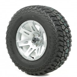"Rugged Ridge 17"" XHD Silver Wheel w/ 33"" Mickey Thompson ATZ Tire"