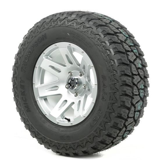 "Rugged Ridge 17"" XHD Silver Wheel w/ 33"" Mickey Thompson ATZ Tire"