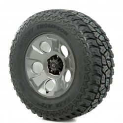 "Rugged Ridge 17"" Drakon Gun Metal w/ 33"" Mickey Thompson ATZ Tire"