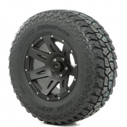"Rugged Ridge 17"" XHD Black Satin Wheel w/ 34"" Mickey Thompson ATZ Tire"