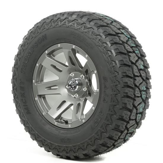"Rugged Ridge 17"" XHD Gun Metal Wheel w/ 34"" Mickey Thompson ATZ Tire"
