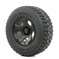"Rugged Ridge 17"" Drakon Black Satin Wheel w/ 305/65R17 Mickey Thompson ATZ Tire"
