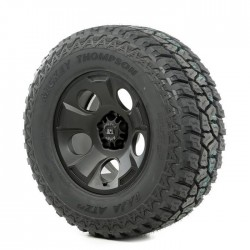 "Rugged Ridge 17"" Drakon Black Satin Wheel w/ 315/70R17 Mickey Thompson ATZ Tire"