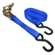 """Safari Straps 1"""" Ratchet Tie Down with PVC Coated S-Hook"""