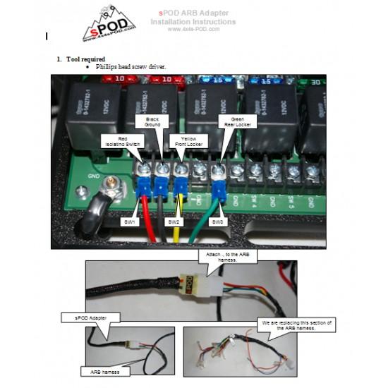 sPOD Adapter Harness for ARB compressor