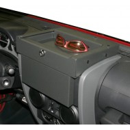 Tuffy Jeep JK 07-10 Flip-N-Lock Stereo Cover and Tray