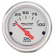 "Auto Meter Ultra-Lite 2-1/16"" Oil Pressure Gauge (0-100 psi)"