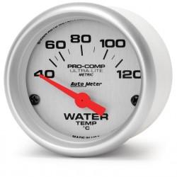 """Auto Meter Ultra-Lite 2-1/16"""" Water Temperature Gauge"""
