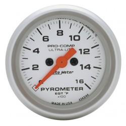 "Auto Meter Ultra-Lite 2-1/16"" Pyrometer Gauge"
