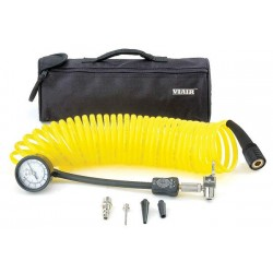Viair 5-in-1 Inline Deflation/Inflation w/ Coil Hose and 100 PSI Gauge