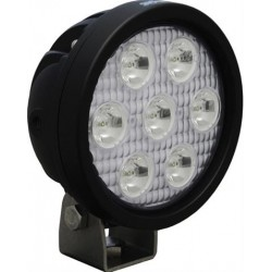 "Vision X 4"" Round Utility Market LED Black Work Light Narrow Beam"