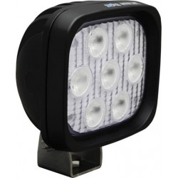 "Vision X 4"" Square Utility Market LED Black Work Light Wide Beam"