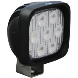 "Vision X 4"" Square Utility Market LED Black Work Light Extra Wide Beam"