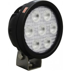 "Vision X 4"" Round Utility Market Xtreme LED Black Work Light Wide Beam"