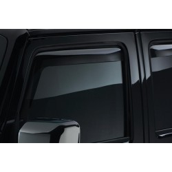 WeatherTech Jeep JK 07-13 Front Window Deflectors Dark Smoke